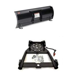 """WARN 78954 ProVantage 54"""" Straight Plow Blade and WARN 92100 ProVantage Plow Base/Push Tube Assembly Bundle"""