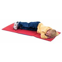 """Children's Factory 0.75"""" Thick Folding Nap MatVinyl in Blue/Red/Yellow, Size 0.75 H x 46.0 W x 19.0 D in 