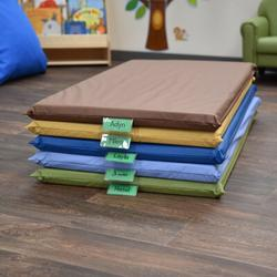 """Children's Factory Cozy Woodland 2"""" Thick Nap Mat in Yellow, Size 2.0 H x 48.0 W x 24.0 D in 