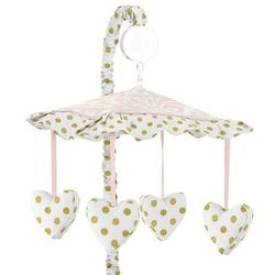 Sweet Jojo Designs Amelia Musical MobileFabric in Pink/White, Size 25.0 H x 19.0 W x 11.0 D in | Wayfair Mobile-Amelia