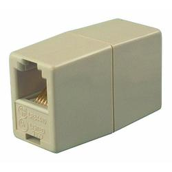 Allen Tel AT210-4 4 Conductor, 6 Position In-Line Coupler, Ivory