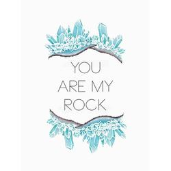 Oopsy Daisy You Are My Rock Pink Canvas Art Canvas in Blue, Size 18.0 H x 14.0 W x 1.5 D in   Wayfair NB48690