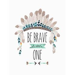 Oopsy Daisy Be Brave Little One Canvas Art Canvas in Blue/Brown, Size 18.0 H x 14.0 W x 1.5 D in | Wayfair NB48669