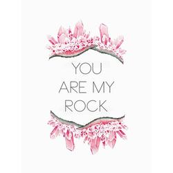 Oopsy Daisy You Are My Rock Canvas Art Canvas in Pink, Size 14.0 H x 10.0 W x 1.5 D in   Wayfair NB48682