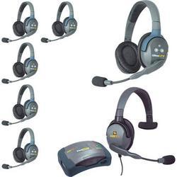 Eartec HUB7DMXS UltraLITE 7-Person HUB Intercom System with Max 4G Single Headset HUB7DMXS
