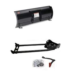 """WARN 78954 ProVantage 54"""" Straight Plow Blade and WARN 78100 ProVantage Plow Base/Push Tube Assembly Bundle"""