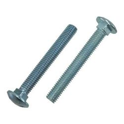 """1/4""""-20 X 4"""" Zinc Plated Square Neck Grade 2 Carriage Bolts (Pack of 12)"""