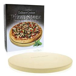 """Pizza Stone for Grill and Oven - 15 Inch 3/4"""" Extra Thick - Cooking & Baking Stone for Oven and BBQ Grill - With Durable Foam Packaging, Gift Box & Pizza Recipes Ebook"""