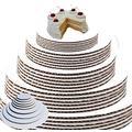 "White Cake Circles Round Cake Boards Cake Circle Base Sturdy Cake Board Set, Food Safe Cake Boards inch Round (6"", 7"", 8"" 9"" 10"" 12, 14""- 4 of Each) Cardboard Cake Rounds Cake Circles Set"