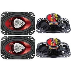 """BOSS CH4620 4x6"""" 400W 2-Way Car Audio Coaxial Speakers Stereo Red"""