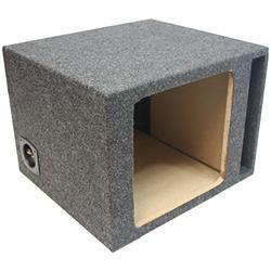 "Car Audio Single 10"" Vented Square Sub Box Enclosure fits Kicker L7 Subwoofer"