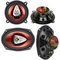 """2 BOSS CH5530 5.25"""" 3-Way 225W + Boss CH6920 6x9 2-Way 350W Car Audio Speakers"""