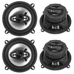 """BOSS NX524 5.25"""" 600W 4-Way Car Audio Coaxial Speakers Stereo Black 4 Ohm"""