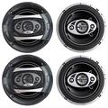 """4 New BOSS Audio P65.4C 6.5"""" 4-Way 400W Car Audio Coaxial Speakers Stereo P654C"""