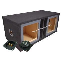 "Car Audio Dual 12"" Vented Square Paintable Sub Box fits Kicker L7 Subwooofer"