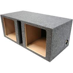 "Car Audio Dual 10"" Vented Square Sub Box Enclosure fits Kicker L7 Subwoofer"