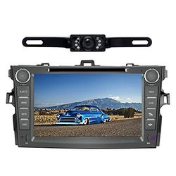 Car Stereo for Toyota Corolla (Support Year 2007 2008 2009 2010) 8 inch Indash CAR DVD Player GPS Navigation Navi Bluetooth Rear Camera HD Touchscreen Radio RDS FM AM Free Map