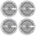 Sony XS-MP1611 6.5 Inch 280 Watt 4 Ohm Dual Cone Weatherproof Marine Audio Stereo Speakers with Polypropylene Woofer Cone, White, 2 Pairs