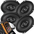 "4 x Pioneer TS Series 350W Max 6"" x 8"" A-SERIES 4-Way Coaxial Car Speakers with Gravity Magnet Phone Holder Bundle (4 Speakers)"