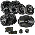 "Kicker for Dodge Ram Truck 02-11 Speaker Bundle- CS 6x9 3-Way Component Speakers, CS 5.25"" Speakers, & CS 3.5"" Speakers"