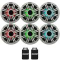 """Kicker 6.5"""" White LED Marine Speakers (QTY 6) 3 pairs of OEM replacement speakers"""