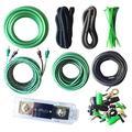 SoundBox 4 Gauge Amp Kit True AWG Amplifier Install Wiring 4 Ga 20 Ft Power Cable, 3500W