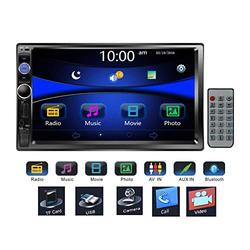 """Regetek 7"""" Double DIN Touchscreen in Dash Bluetooth Car Stereo Mp3 Audio 1080P Video Player FM Radio/AM Radio/TF/USB/AUX-in + Remote Control"""