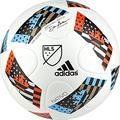 adidas Performance 2016 MLS Top Glider Soccer Ball, White/Shock Blue/Black, Size 3