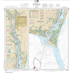 Paradise Cay Publications NOAA Chart 11537: Cape Fear River Cape Fear to Wilmington 37.2 x 33.9 (Waterproof)