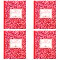 Roaring Spring Paper Products Composition Book, Grade 3 Ruled, 50 Sheets, 9-3/4 x 7-3/4 Inches, Red (ROA77922), 4 Packs