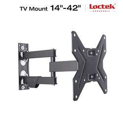 "Loctek L1 Black Tilt Swivel Extend Full Motion Tv Wall Mount Bracket Vesa 200200 for Screen 14""-42"" Tv Samsung/coby/lg/vizio/Sharp/Sony/Toshiba/seik Etc-(l1 14""-42"")"