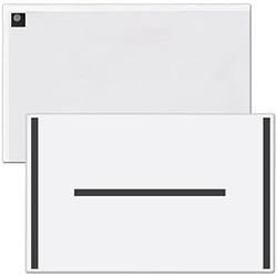"""StoreSMART Magnetic Closure Pockets - Magnetic-Back - 11"""" x 17"""" - 10-Pack - White - MCP3512MB-W-10"""
