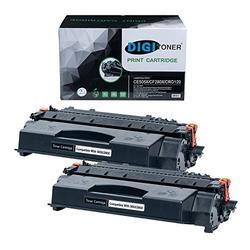 TonerPlusUSA Compatible CF280X CE505X CRG120 Toner Cartridge – CF 280X CE 505X CRG 120 High Yield Toner Cartridge Replacement for HP Laser Printer – Black [2 Pack]