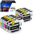 GPC Image Compatible Ink Cartridge Replacement for Brother LC203 LC203XL to use with MFC-J480DW MFC-J880DW MFC-J460DW MFC-J680DW MFC-J885DW J4420DW J485DW (4 Black,2 Cyan,2 Magenta,2 Yellow) 10-Pack