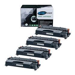 TonerPlusUSA Compatible CE505X CF280X CRG120 Toner Cartridge – CE505X CF280X CRG120 High Yield Toner Cartridge Replacement for HP Laser Printer – Black [4 Pack]