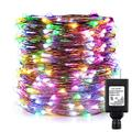 ER CHEN Fairy Lights Plug in, 99ft/30m 300 LED Silver Coated Copper Wire Starry String Lights Outdoor/Indoor Decorative Lights for Bedroom, Patio, Garden, Party, Christmas Tree (Multicolored)