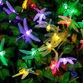 WONFAST Solar Dragonfly String Light, Waterproof 20ft 30 LED Dragonfly Fairy String Light with 2 Modes Christmas Solar String Lights for Garden, Wedding, Party and Holiday Decorations (Multi Color)