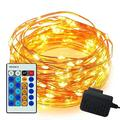 100 Led String Lights,Easest 33 Feet Long Copper Wire Decorative String Light Dimmable Fairy Starry Lights with Remote Control for Bedroom,Christmas Tree,Home,Party,Wedding Decorations (Warm White)