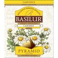 Basilur , 100% Pure Chamomile Tea , Caffeine Free , Pyramid Tea Bags , Biodegradable Luxury Tea bags , For Hotels, Restuarants, Cafes and Tea lovers , Ultra-Premium Tea Sachets in Box , Pack of 50