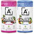 Best Green Superfood 100% Natural Daily Green Juice Superfood Powder by Activated Nutrients, Amazing All In One Nutrition and Fiber Superfood Powder, Increases Energy and Health (Women, 8.5 Ounce)