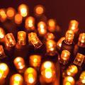 70 5mm Amber LED Christmas Lights, 24' Orange Halloween Lights LED String Lights Halloween Decorations Outdoor Christmas String Lights Mini Lights Outdoor Tree Lights