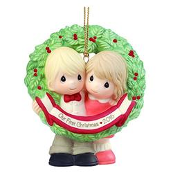 """Precious Moments, Our First Christmas Together 2016"""", Bisque Porcelain Ornament, 161004"""