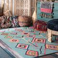 nuLOOM Belini Hand Tufted Wool Area Rug, 4' x 6', Turquoise