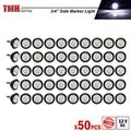 50 Pcs TMH 3/4 Inch Mount White LED Clearance Markers Bullet Marker lights, side marker lights, led marker lights, led side marker lights, led trailer marker lights, trailer marker light
