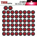 """50 Pcs TMH 3/4"""" Inch Mount Red LED Clearance Markers Bullet Marker lights, side marker lights, led marker lights, led side marker lights, led trailer marker lights, trailer marker light"""