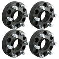 """DCUAUTO 4pc 6x5.5 Hubcentric Wheel Spacers Compatible with Chevy GMC 6 Lug, 1.5"""" Wheel Spacers Wheel Spacers with 14x1.5 Studs for 1999-2020 Silverado 1500,1995-2020 Tahoe,1999-2020 Sierra 1500"""