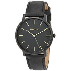 Nixon Porter Leather A1058-1031 Black Leather Men's Watch 40mm