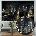 Poster – Manhattan at Night – Picture New York City Decoration NYC Mural America Metropolis Wall Street USA Image Photo Decor Wall Mural (55x39.4in - 140x100cm)
