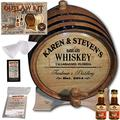 Personalized Whiskey Making Kit (063) - Create Your Own Southern Whiskey - The Outlaw Kit from Skeeter's Reserve Outlaw Gear - MADE BY American Oak Barrel - (Oak, Black Hoops, 2 Liter)