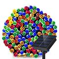 Dolucky Solar String Lights, 72ft 200 LED 8 Mode Solar Powered String Lights, Waterproof LED Solar Lights String Outdoor for Garden Patio Fence Holiday Party(Multicolor)